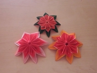 Origami Blume falten. DIY Origami Flower