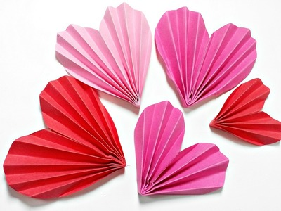 Origami Heart 3D For Decoration.DIY Crafts - Paper Hearts Design Valentine's Day tutorial