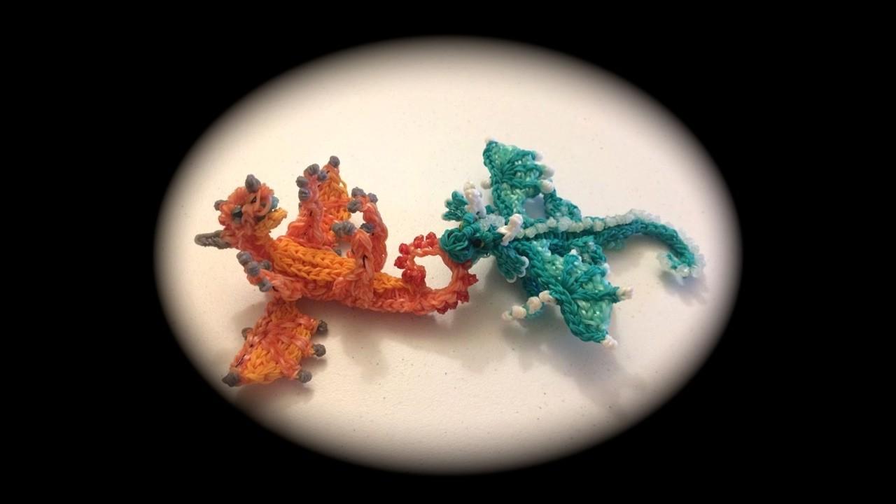 Part 2.2 Rainbow Loom Detailed Baby Dragon (1 Loom)
