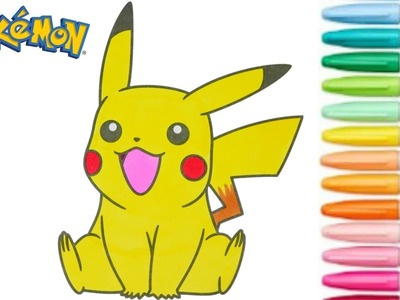 Pikachu Coloring Book Pokemon Go Colouring Pages For Kids Rainbow Splash