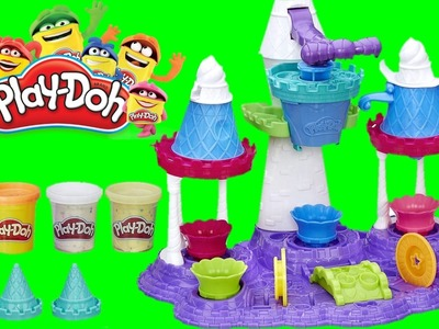 PLAY DOH ICE CREAM CASTLE DIY Play Dough Ice Cream cones, ice cream sundaes cookies