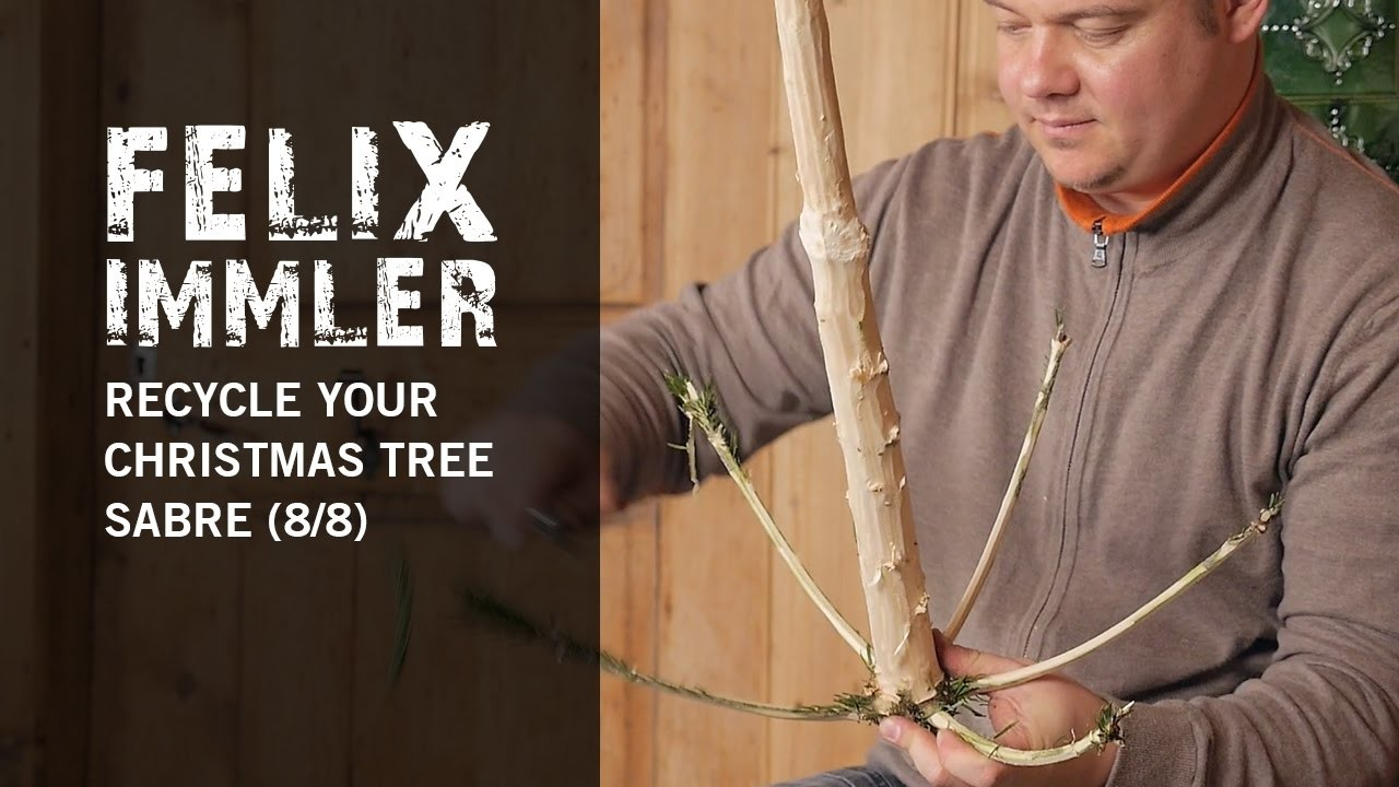 Recycle your used Christmas Tree (8.8) - How to carve a Saber Sword
