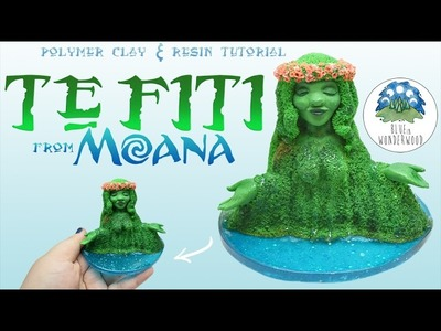 TE FITI from Moana - Disney Inspired - Earth Goddess - Polymer Clay & Resin Tutorial