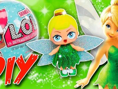 TINKERBELL LOL Surprise Custom Doll DIY   Disney Princess Tutorial   Lil Outrageous Littles Repaint