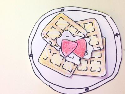 스톱모션 와플만들기[토이러브] DIY Stop motion make waffle[Sophie Toy]
