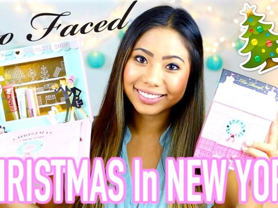 Too Faced Holiday 2016 SWATCHES & GIVEAWAY Christmas in New York !!