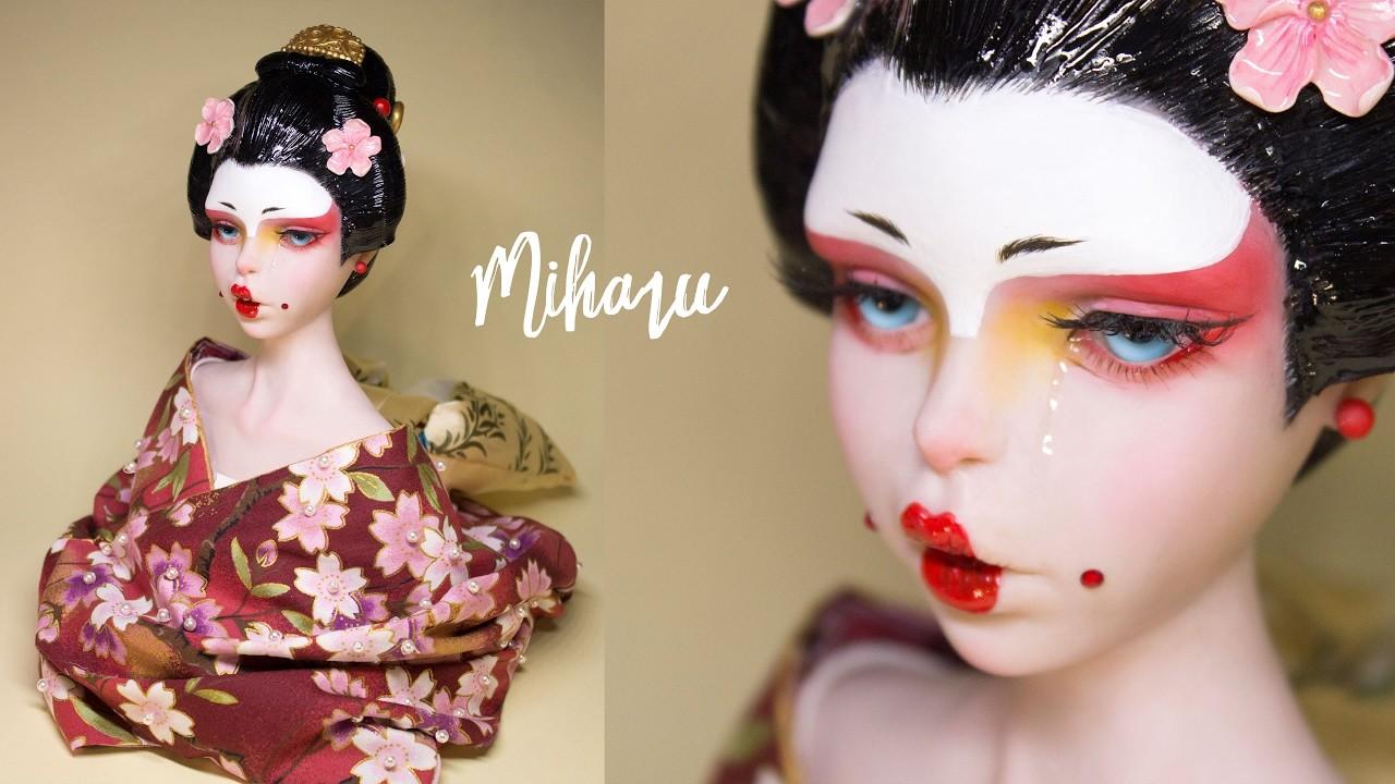 Updated 'MIHARU' Geisha Sculpture | Polymer Clay Tutorial