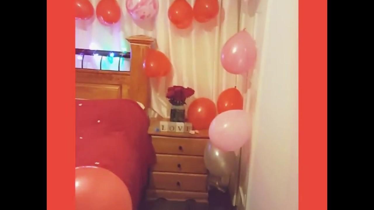 Valentine's day romantic DIY room decorations ideas.