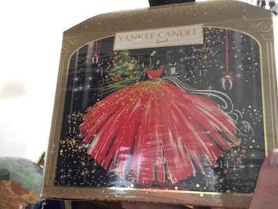 Yankee Candle 2016 Christmas Advent Holiday Pavillion carousel & Melt Candle Haul