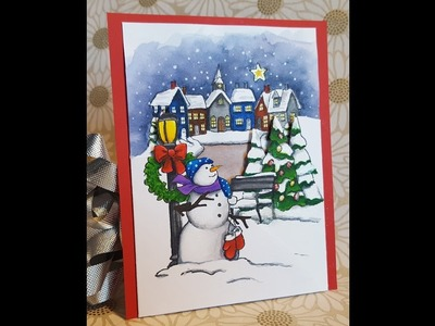 12 Days of Christmas Cards - Day 3: Christmas Tri-Fold with Zig Clean Color Real Brush Markers