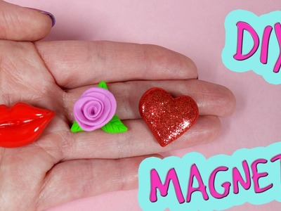 3 DIY Valentine's Day Magnets! Valentines gift ideas. Polymer clay tutorial