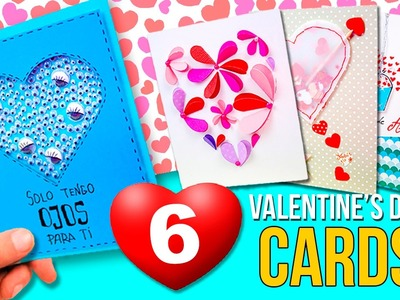6 Super EASY VALENTINE'S DAY cards