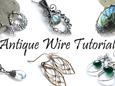 Antiquing Wire Tutorial : How to Add Patina to Silver Brass Copper & Gold