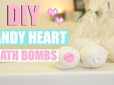 CANDY HEART DIY BATH BOMBS + SUGAR SCRUB!! - Super easy recipes