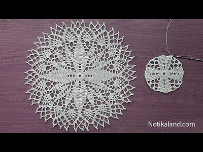 Crochet How to crochet doily Part 1  Crochet doily rug tutorial