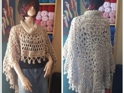 Crochet poncho redondo para principiantes