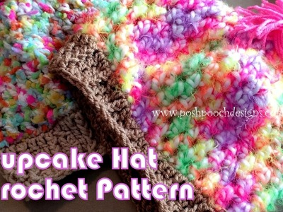 Cupcake Hat Crochet Pattern
