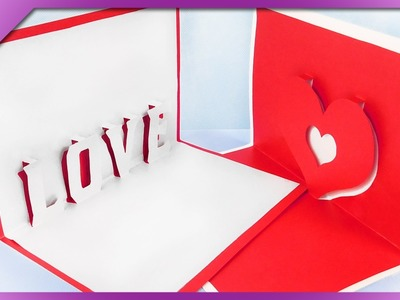 DIY 3D Valentine's Day cards (ENG Subtitles) - Speed up #309