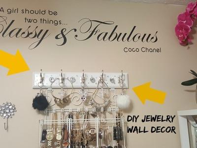 "DIY  ""BLING"" Jewelry Wall Decor"