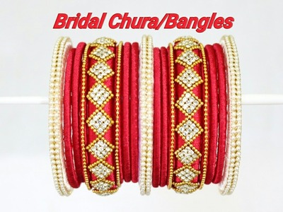 DIY | Bridal Chura.Bangles | How to make Designer Silk Thread Bridal Bangles at Home | Tutorial