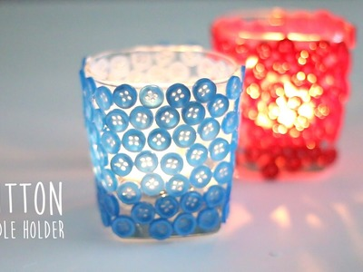 DIY: Button Candle Holder