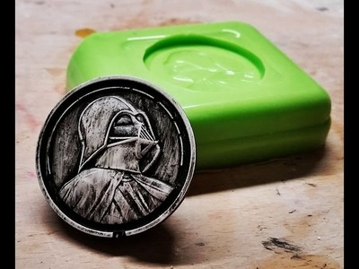 DIY Darth Vader Coin Magnet, mold making and casting.