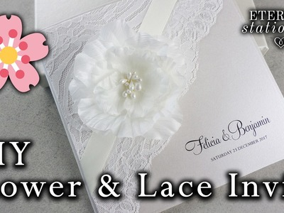 DIY Elegant Flower and Lace Invitation | Wedding Invitations | Easy DIY