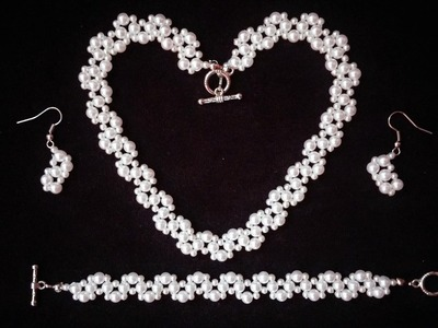 DIY Elegant Jewelry Set for any special occasion. Beginners beading tutorial