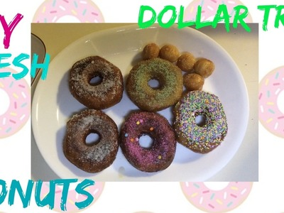 DIY FRESH DONUTS AND DONUT HOLES FOR $1| DOLLAR TREE