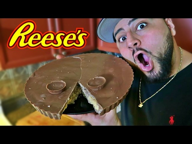 DIY GIANT REESE'S PEANUT BUTTER CUP!!