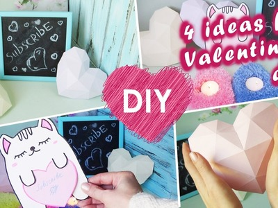 DIY gift or room decor for Valentines day. 4 easy projects for your room.