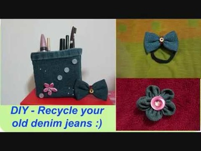 DIY - Great Ideas To Recycle Your Old Denim Jeans