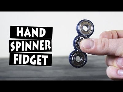 DIY Hand Spinner Fidget Toy | Easy Triple Spinner Fidget