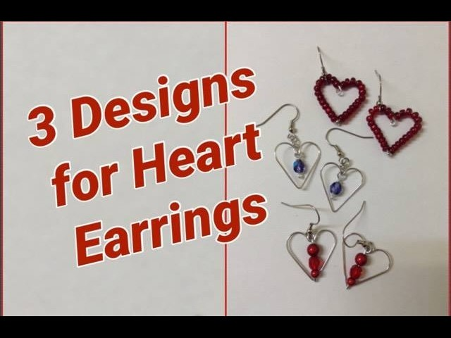 DIY Heart Earrings for Valentines Day
