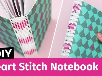 DIY Heart Stitch Notebook | Sea Lemon