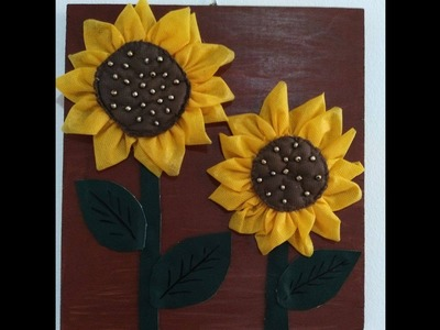 DIY Home Decor - How to Make Fabric Sunflowers for Wall Decor + Tutorial .