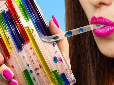 DIY LIQUID Rainbow Phone Case You've NEVER Seen Before!