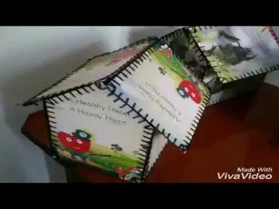 DIY making an easy decorative and organiser hut using waste cards