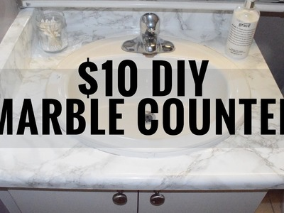 DIY MARBLE COUNTER FOR UNDER $10 | CarleyG