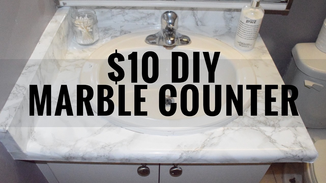DIY MARBLE COUNTER FOR UNDER $10   CarleyG