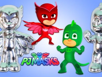 DIY METAL PJ Masks Gekko and Owlette 3D Figures! Gallium Metal that MELTS in Your Hand!