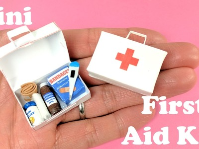 DIY Miniature First Aid Kit  & Accessories - Band Aids, Thermometer, Medicine - Doll Crafts