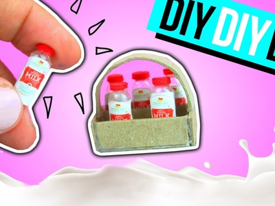 DIY MINIATURE MILK BOTTLES!!!  | DOLLHOUSE DIY