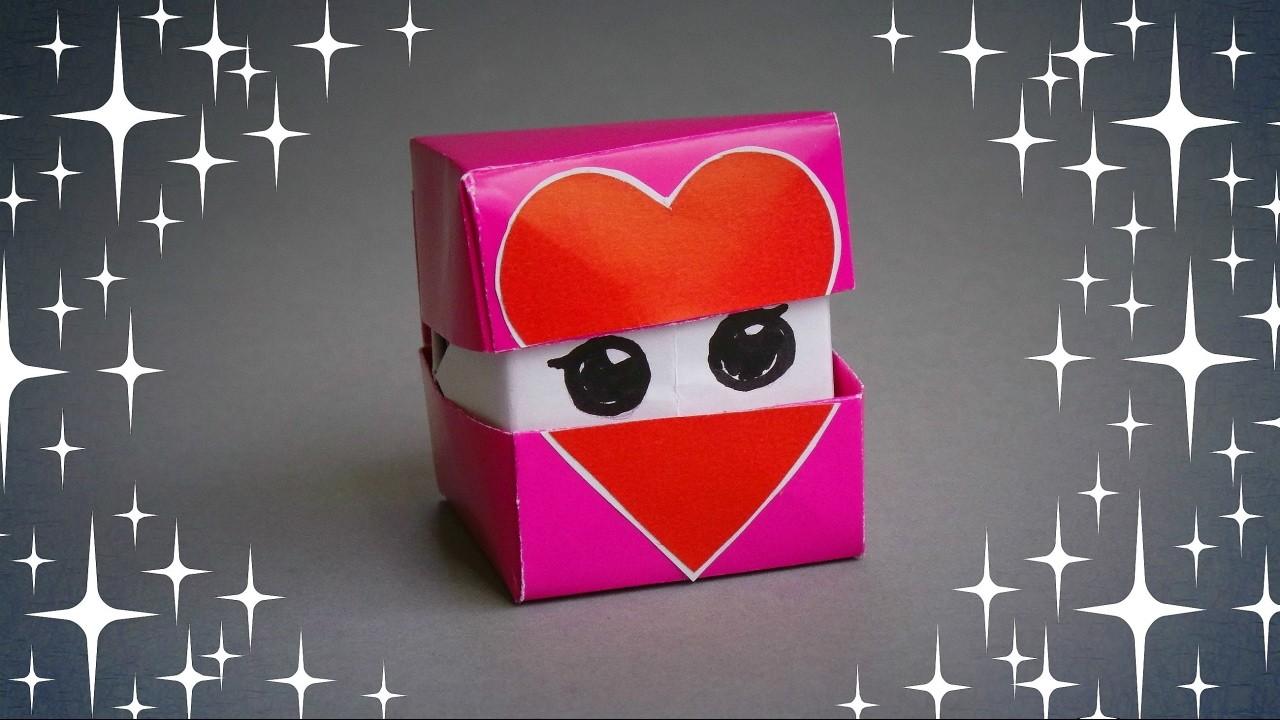 DIY - ORIGAMI FACES HEART CUBE - TUTORIAL. GIFT IDEAS
