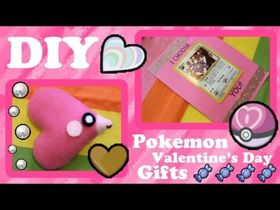 ❤ DIY Pokemon Valentine's Day Gifts! A Keychain, A Plush Doll And A Card! ❤