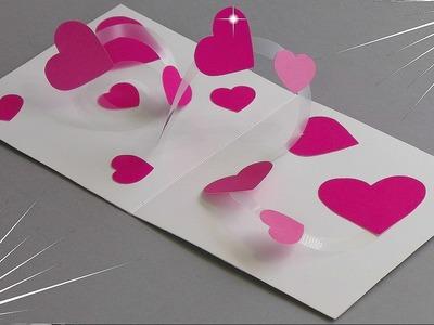 DIY - SPIRAL HEART POP UP CARD - TUTORIAL. CARD MAKING IDEAS