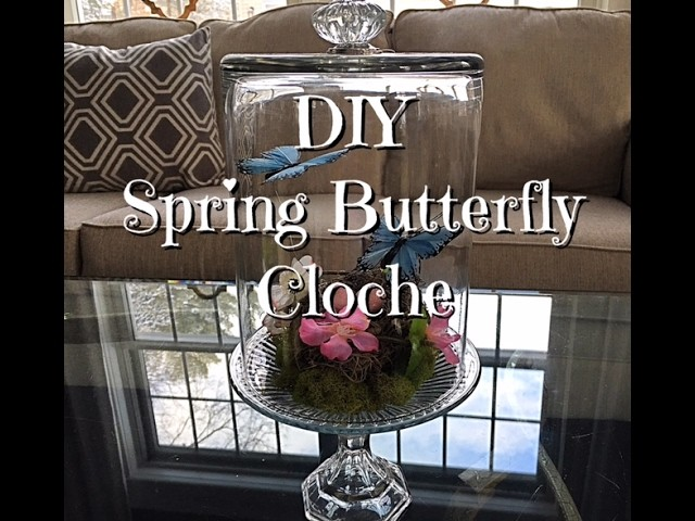 DIY Spring Butterfly Cloche How To - Dollar Tree Supplies