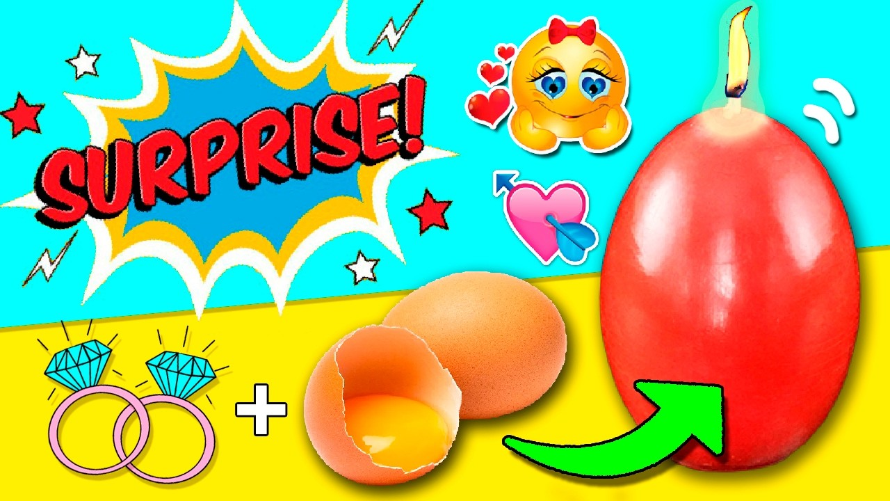 DIY SURPRISE Egg Candle! * VELA huevo con SORPRESA ✅  Top Tips and Tricks in 1 minute