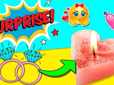 DIY SURPRISE Heart Candle! * VELA corazón con SORPRESA ✅  Top Tips and Tricks in 1 minute