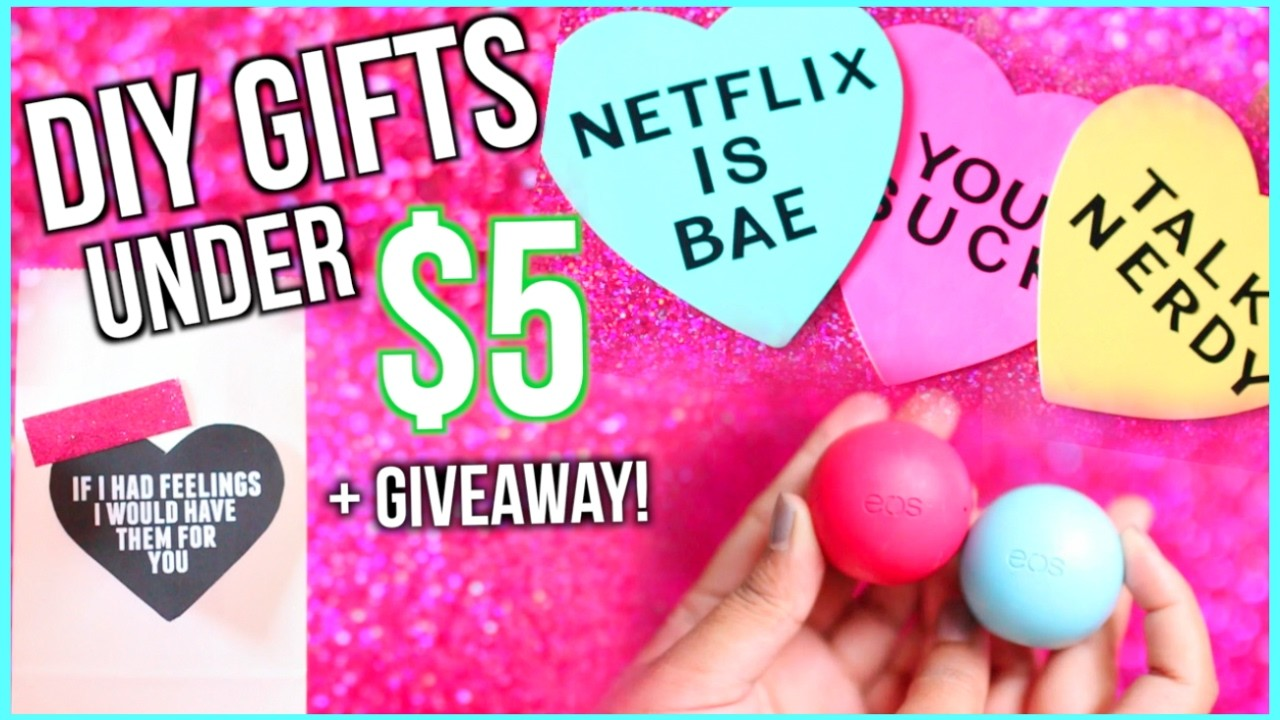 DIY Valentine's Day Gifts Under $5! 2017